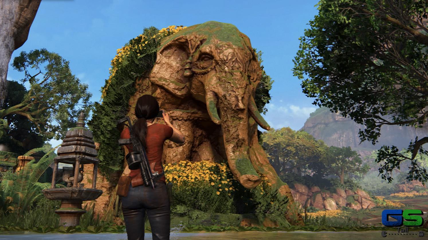 Uncharted: L'eredità Perduta - Una scultura particolarmente fotogenica!