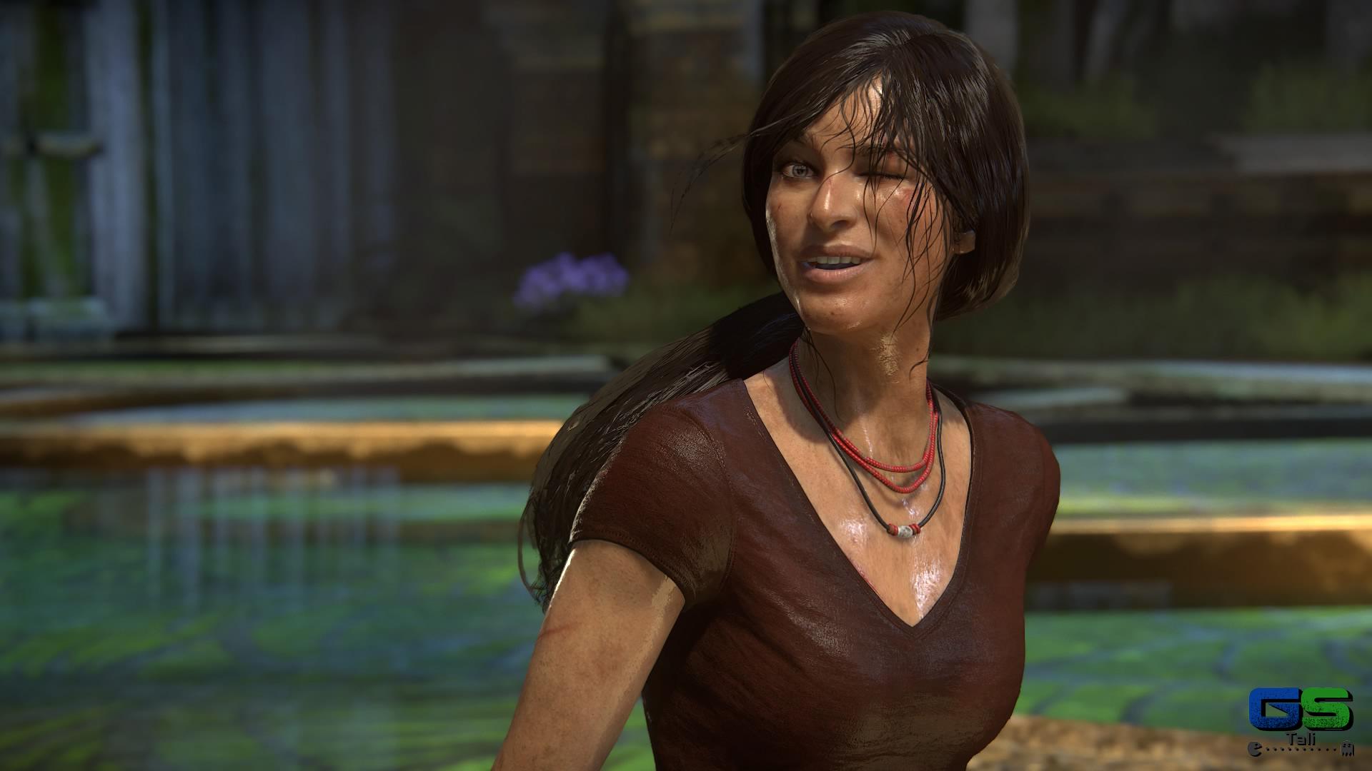 Uncharted: L'eredità Perduta - Chloe dopo un tuffo!