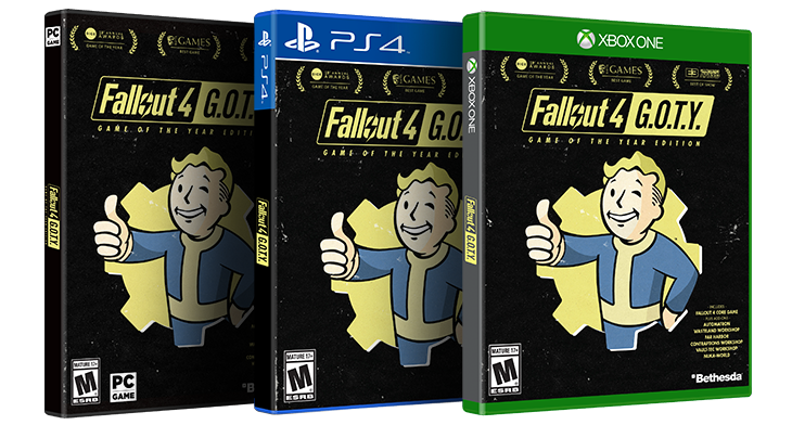 News – Fallout 4 GOTY Edition in arrivo tra pochi giorni