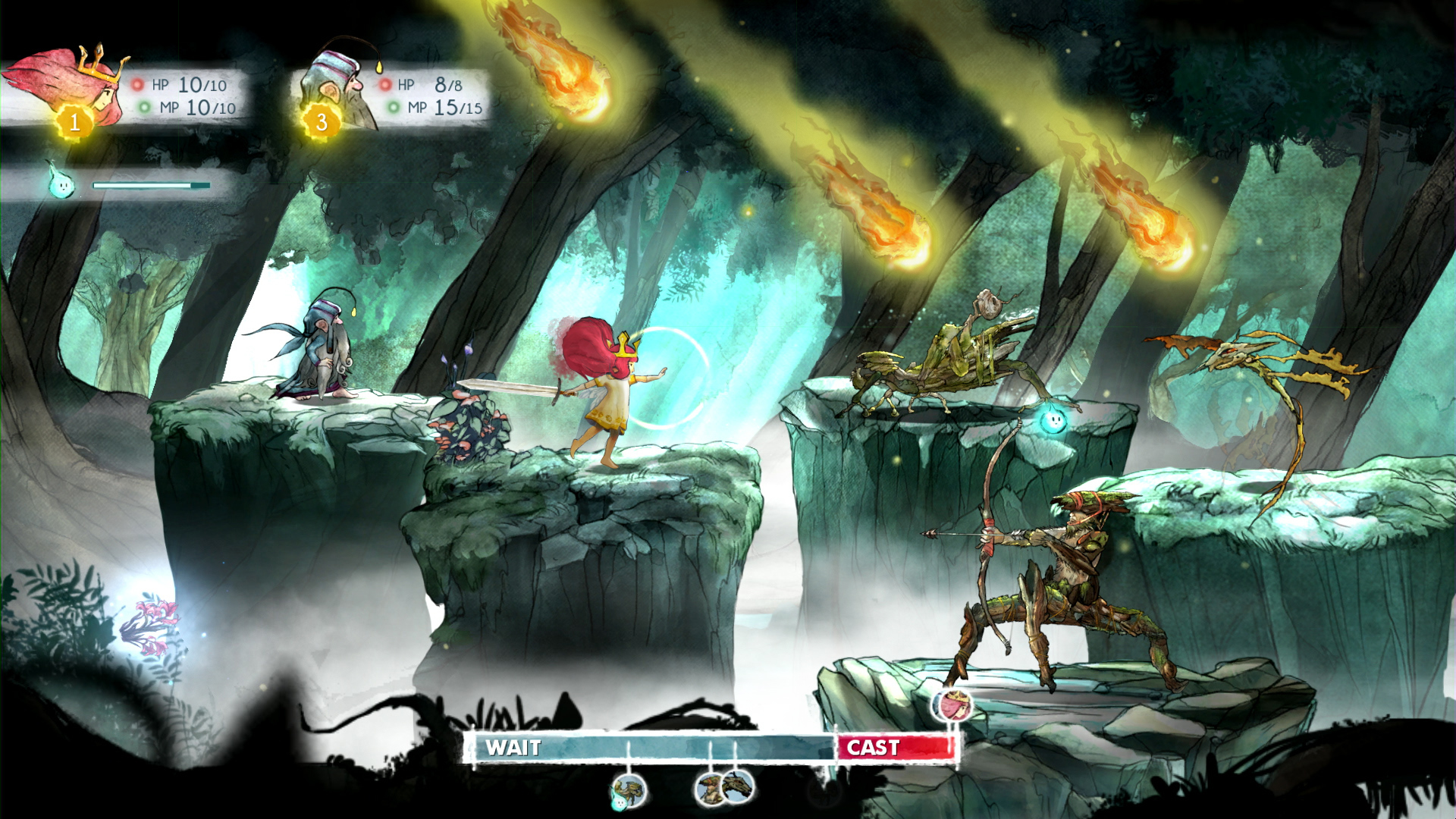 Child of Light - un combattimento
