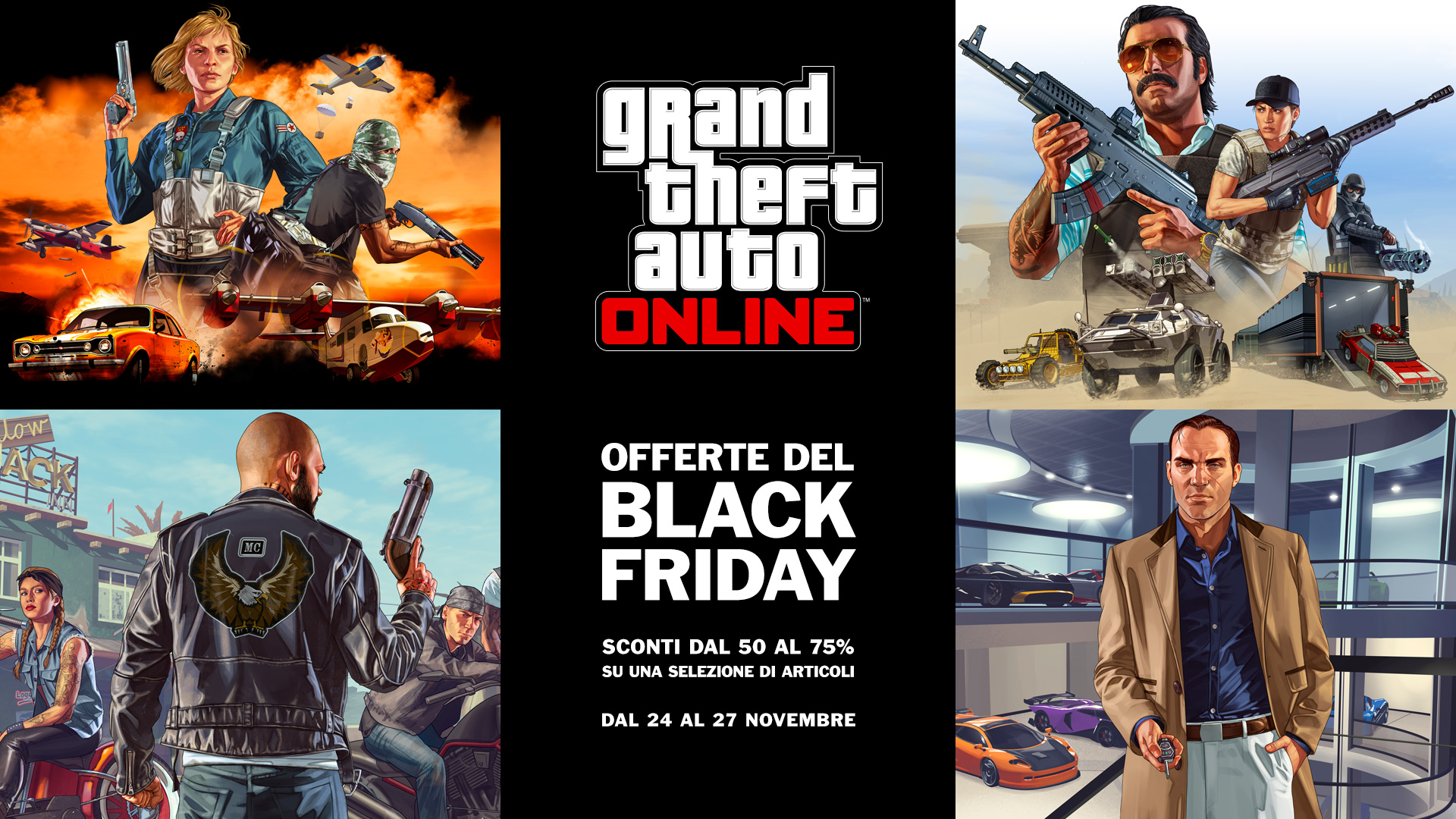News – Il Black Friday sbarca su GTA Online dal 24 al 27 novembre