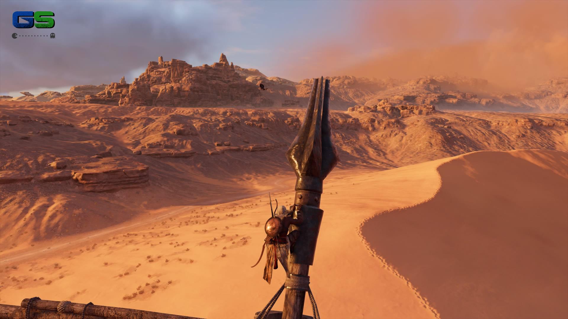 Assassin's Creed Origins - Un'arrampicata nel deserto