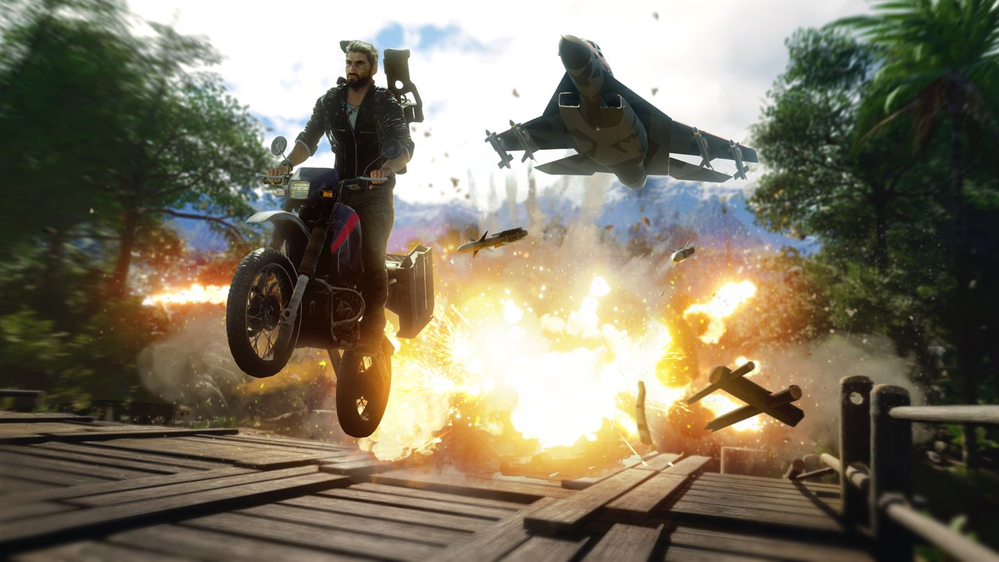 Rico in azione in Just Cause 4