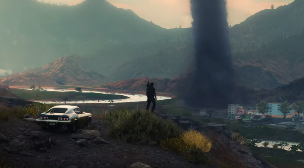 Un tifone in Just Cause 4